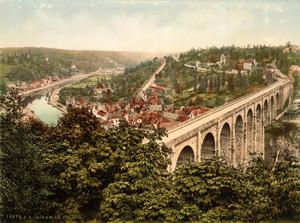 Art Prints of The Viaduct, Dinan, France (387266)