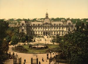 Art Prints of Hotel de Ville, Havre, France (387302)