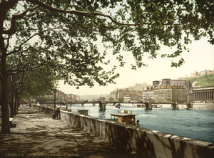 Art Prints of The Quay of the Saone, Lyons, France (387344)