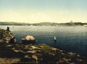 Art Prints of Chateau d'If View from the Chateau, Marseilles, France (387351)