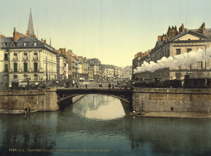 Art Prints of Confluence of Edre or Erdre and Loire, Nantes, France (387393)