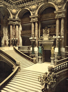 Art Prints of The Opera House, the Grand Staircase, Paris, France (387428)