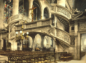 Art Prints of St. Etienne du Mont Church Interior, Paris, France (387438)