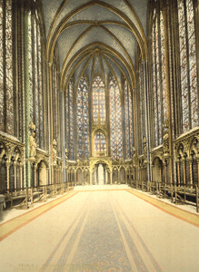 Art Prints of The Holy Chapel or Sainte Chapelle Interior, Paris, France (387441)