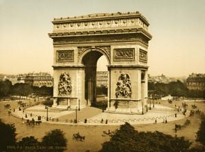 Art Prints of Arc de Triomphe de l'Etoile, Paris, France (387452)