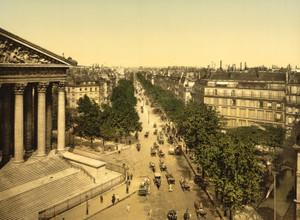 Art Prints of Boulevard of the Madeline or Madeleine, Paris, France (387449)