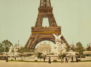 Art Prints of Eiffel Tower and Fountain, Paris, France (387485)