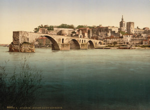 Art Prints of Saint Benexet Bridge, Avignon, Provence, France (387493)