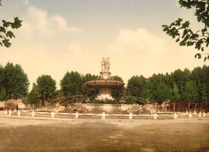 Art Prints of The Round Fountain, Aix, Provence, France (387496)