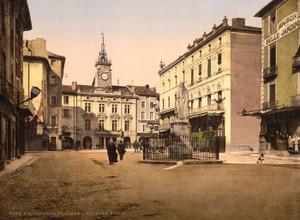 Art Prints of Hotel de Ville Place, Orange, Provence, France (387504)