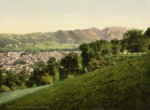 Art Prints of General View Bagneres de Bigorra, Pyrenees, France (387508)