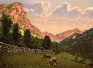 Art Prints of The Suburbs, Eaux Bonnes, Pyrenees, France (387538)