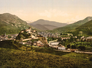 Art Prints of General View, Lourdes, Pyrenees, France (387546)
