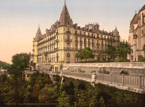 Art Prints of Promenade and Grand Hotel Gassion, Pau, Pyrenees, France (387572)