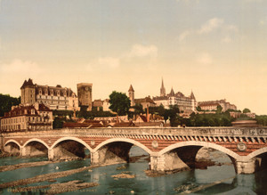 Art Prints of The Castle and Bridge, Pau, Pyrenees, France (387570)