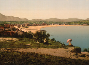 Art Prints of St. Jean de Luz from St. Barbe, Pyrenees, France (387577)