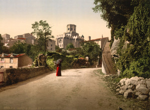 Art Prints of Church and Old Town, Royat, France (387600)