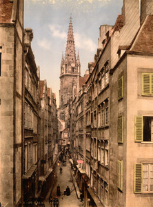 Art Prints of Grand Street, St. Malo, France (387606)