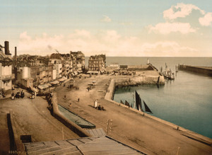 Art Prints of The Wharf from the Harbor, Treport, France (387624)
