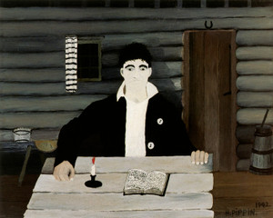 Art Prints of John Brown Reading His Bible by Horace Pippin