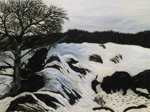 Art Prints of The Buffalo Hunt by Horace Pippin