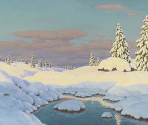 Art Prints of Winter Landscape II by Ivan Fedorovich Choultse