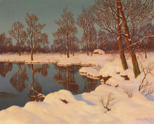 Art Prints of Winter Sunset by Ivan Fedorovich Choultse