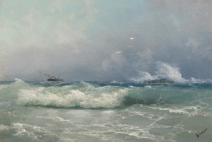 Art Prints of Biarritz by Ivan Konstantinovich Aivazovsky