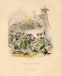 Art Prints of Return of the Flowers by J. J. Grandville