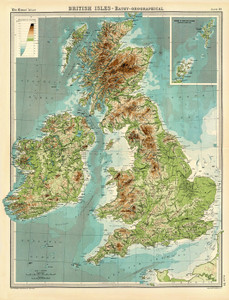 Art Prints of British Isles, 1922 (2113015) by J.G. and John Bartholomew and Son
