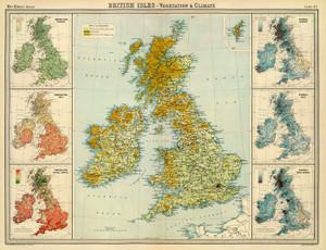 Art Prints of British Isles Vegetation (2113016) by J.G., John Bartholomew and Son