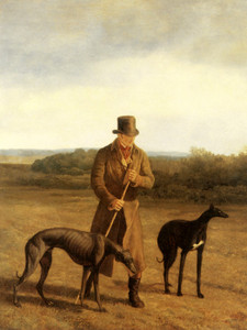 Art Prints of Portrait of Lord Rivers with Two Greyhounds by Jacques-Laurent Agasse