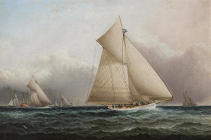 Art Prints of Yachting Scene with the Volunteer by James Edward Buttersworth