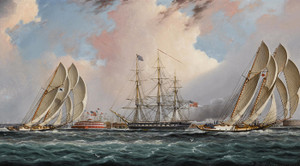 Art Prints of New York Harbor Regatta by James Edward Buttersworth