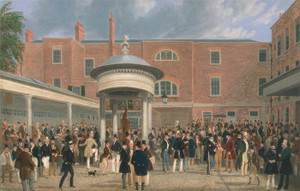 Art Prints of Epsom races, Settling Day at Tattersalls by James Pollard