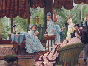 Art Prints of In the Conservatory by James-Jacques-Joseph Tissot