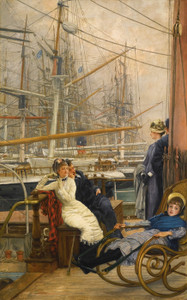 Art Prints of A Visit to the Yacht by James-Jacques-Joseph Tissot