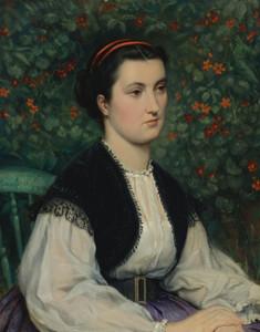 Art Prints of Portrait of a Lady by James-Jacques-Joseph Tissot