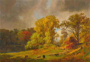 Art Prints of A Shepherd and His Flock by Jasper Francis Cropsey