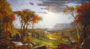 Art Prints of Autumn on the Hudson River, 1860 by Jasper Francis Cropsey