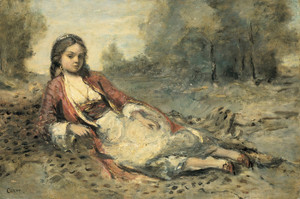 Art Prints of An Algerian by Camille Corot