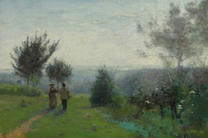 Art Prints of Dawn, Printanniere by Camille Corot