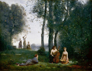 Art Prints of Le Concert Champetre by Camille Corot