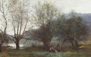 Art Prints of Les Etangs de Ville d'Avray by Camille Corot
