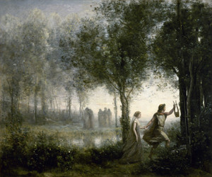 Art Prints of Orpheus Leading Eurydice from the Underworld by Camille Corot