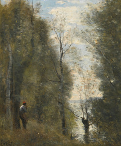 Art Prints of Prairie Views through Flooded feuillee by Camille Corot