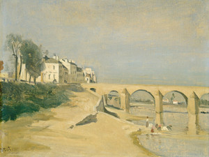Art Prints of Point on the Saone, Macon France by Camille Corot