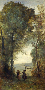 Art Prints of Reminiscence of the Beach of Naples by Camille Corot