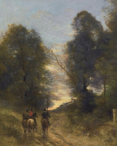 Art Prints of Riders in a Landscape by Camille Corot