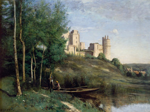 Art Prints of Ruins of the Chateau de Pierrefonds by Camille Corot
